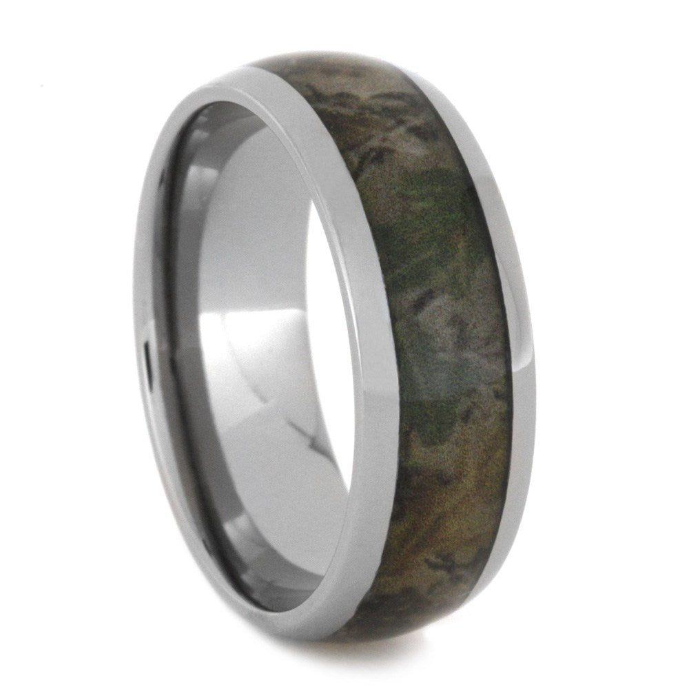 Titanium Ring Inlaid With Camouflage, Camo Ring-2774 - Jewelry by Johan