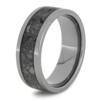 Polished Titanium Ring with Crushed Deer Antler-1811 - Jewelry by Johan