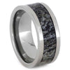 Natural Deer Antler Ring in Titanium Band-SIG3008