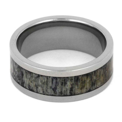 Natural Deer Antler Ring in Titanium Band-SIG3008 - Jewelry by Johan