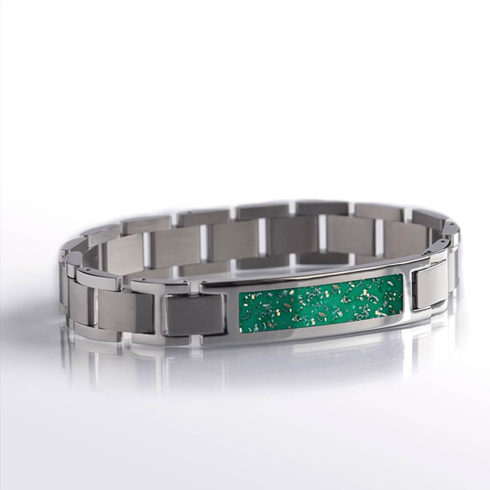 Green Stardust™ Stainless Steel Interchangeable Bracelet-BR1001-3 - Jewelry by Johan