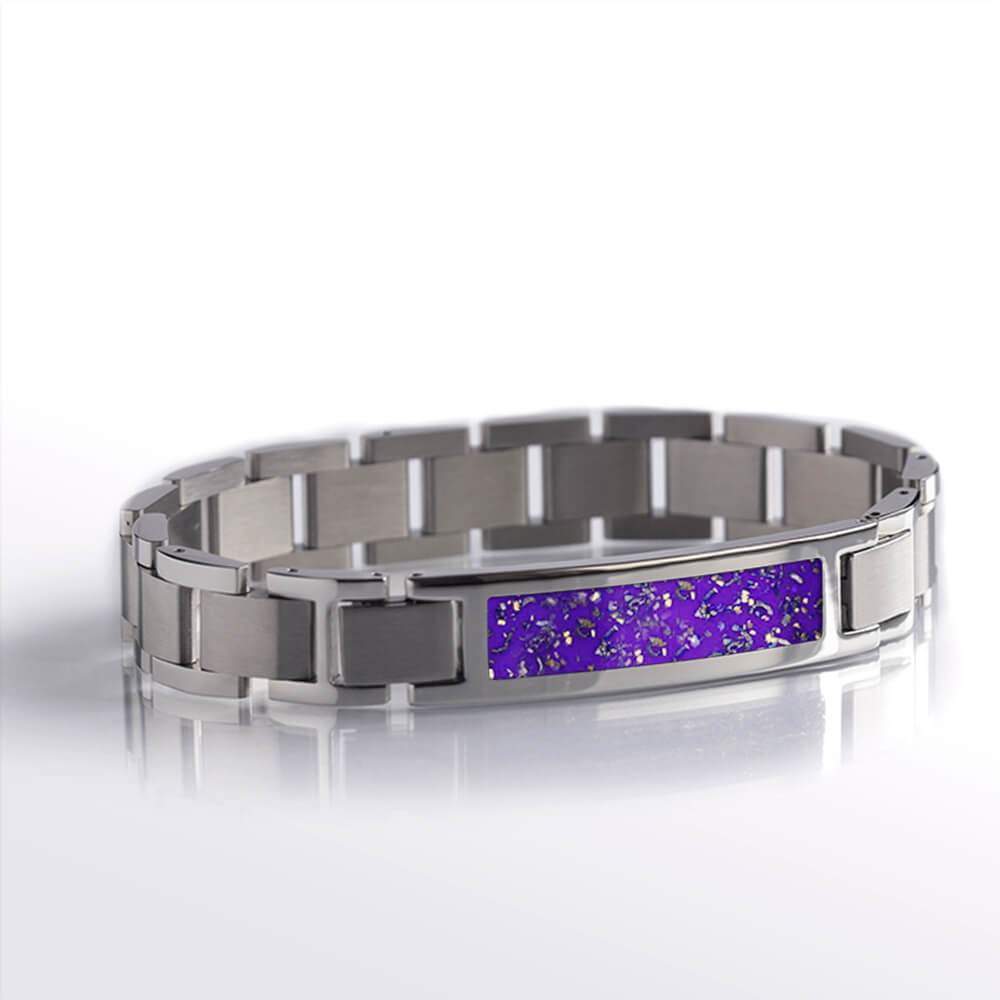 Purple Stardust™ Stainless Steel Interchangeable Bracelet-BR1001-3 - Jewelry by Johan