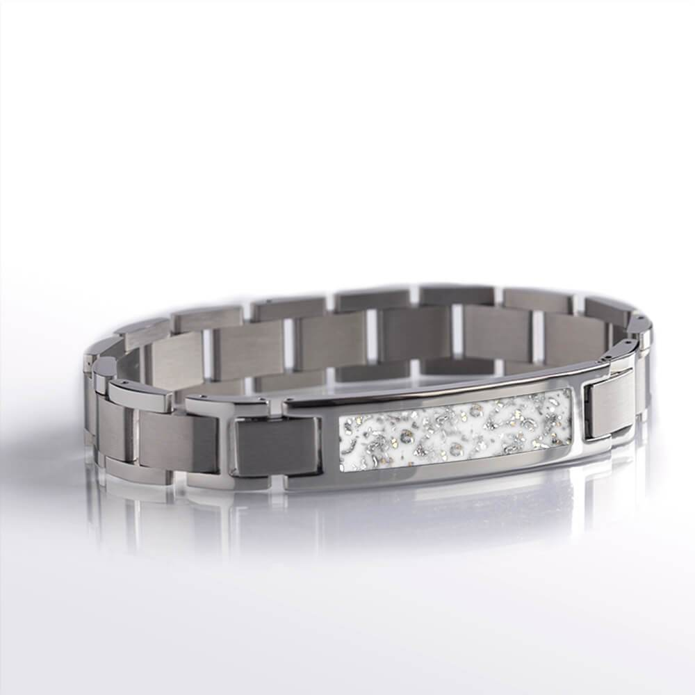 White Stardust™ Stainless Steel Interchangeable Bracelet-BR1001-3 - Jewelry by Johan