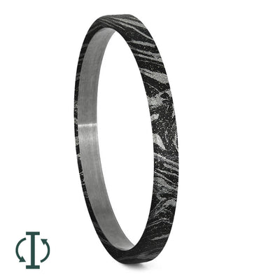Black & White Mokume Gane Inlays for Interchangeable Rings, 2MM, 5MM or 6MM-INTCOMP-MOK - Jewelry by Johan