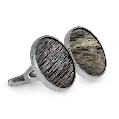 Deer Antler and Stainless Steel Cuff Links-CFSS-AN - Jewelry by Johan