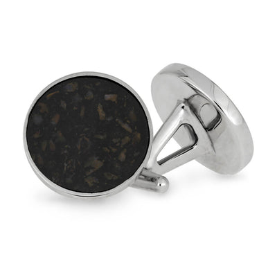 Crushed Dino Bone Cuff Links in Stainless Steel-CFSS-DIC - Jewelry by Johan