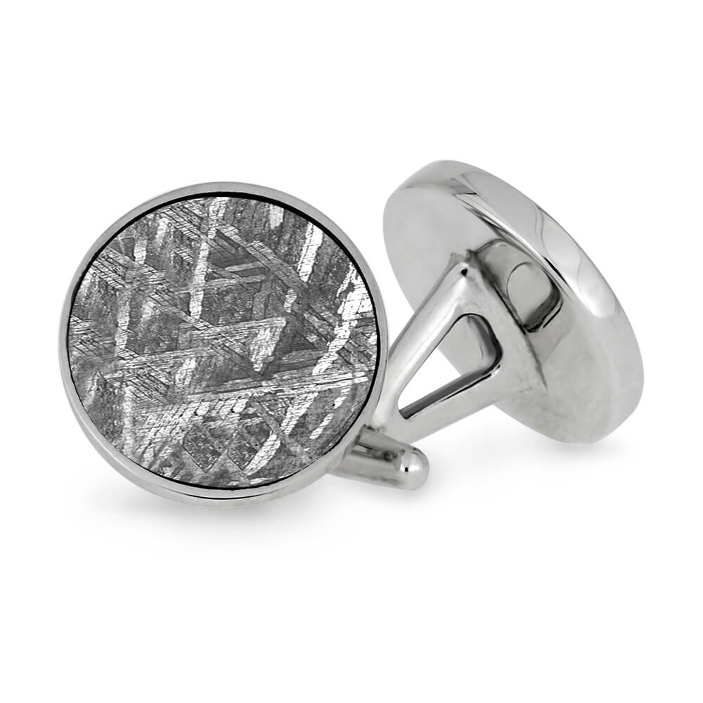 Authentic Meteorite and Stainless Steel Cuff Links-CFSS-MT - Jewelry by Johan