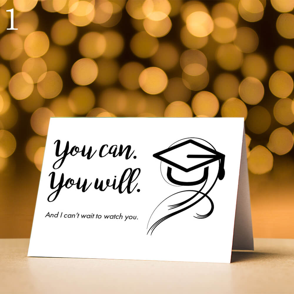 Mini Graduation Card, Five Message Options-SRV12 - Jewelry by Johan