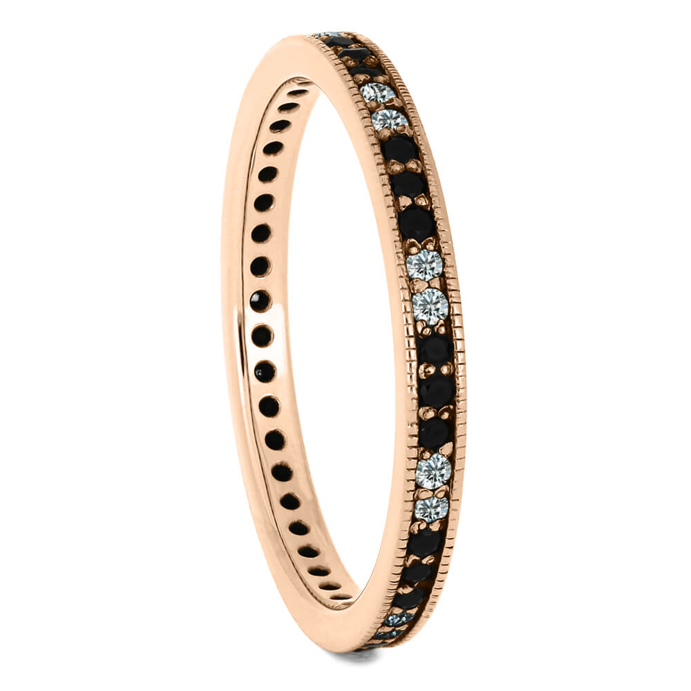Dainty Diamond Eternity Wedding Band in Rose Gold-DJ1000RG - Jewelry by Johan