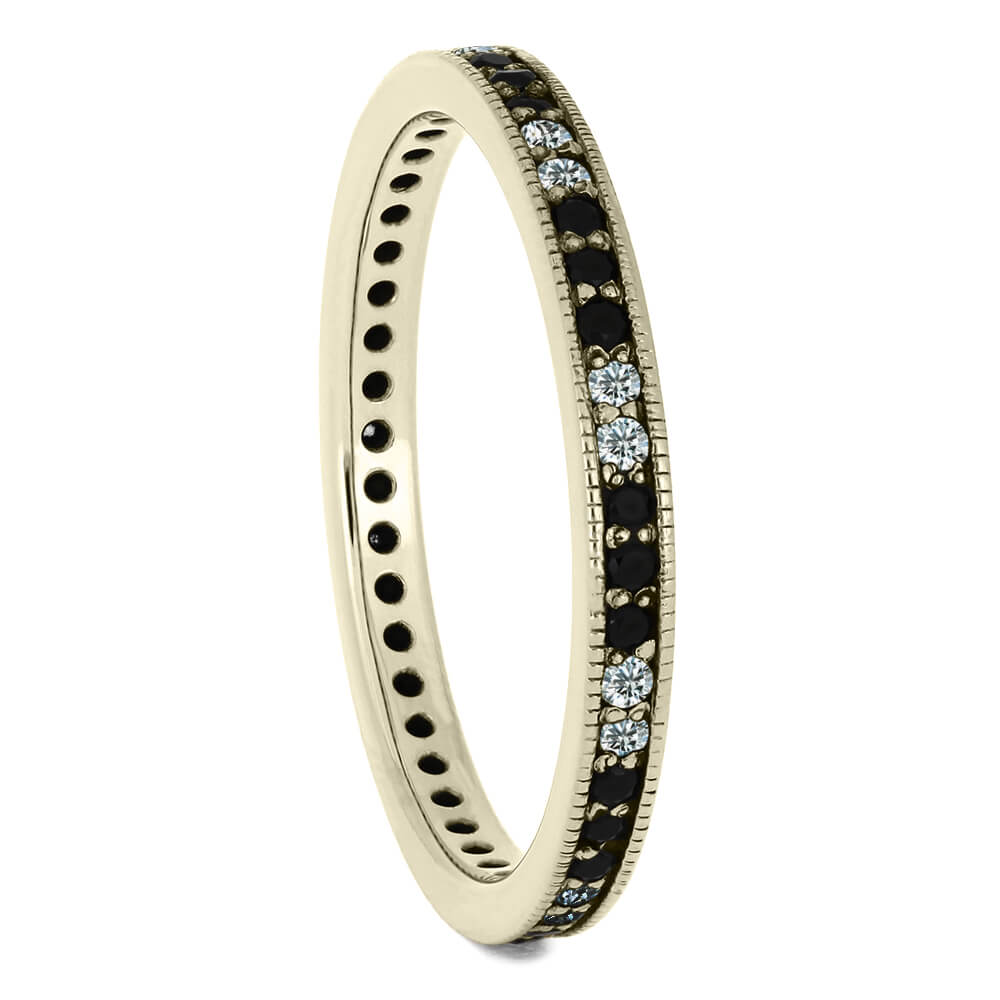 Thin Diamond Eternity Wedding Band in White Gold-DJ1000WG - Jewelry by Johan