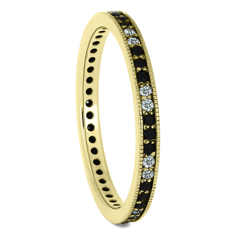 Diamond Eternity Wedding Band, Dainty Yellow Gold Ring-DJ1000YG - Jewelry by Johan