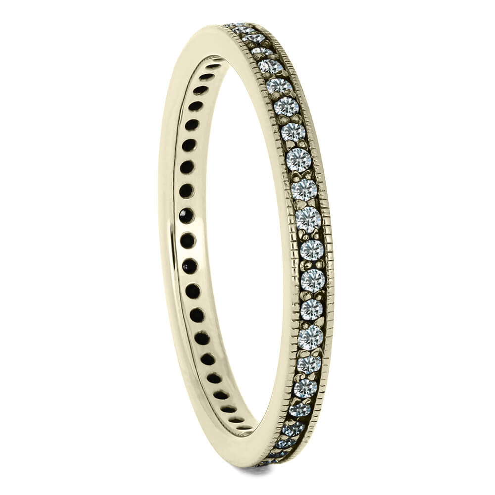 Diamond Eternity Wedding Band in Polished White Gold-DJ1004WG - Jewelry by Johan
