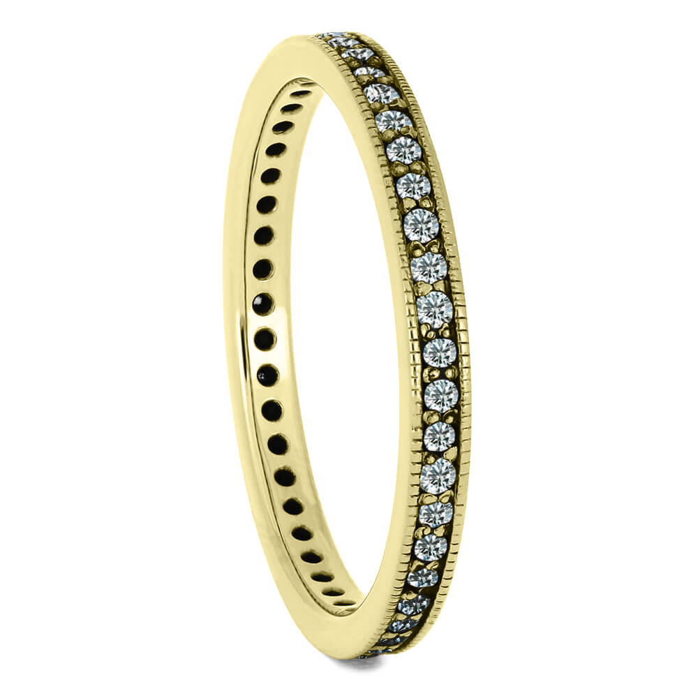 Dainty Diamond Eternity Wedding Band in Yellow Gold-DJ1004YG - Jewelry by Johan