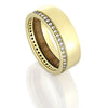 Women's Diamond Bridal Set, Eternity Ring With Oak Wood Sleeve-DJS1002YG - Jewelry by Johan