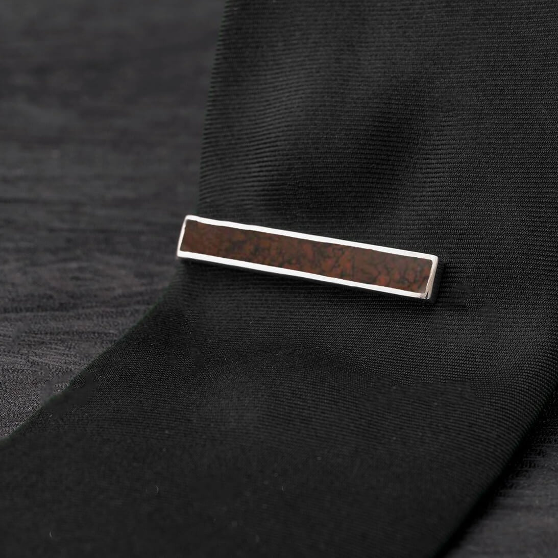 Fossilized Dinosaur Bone Tie Clip, In Stock-SIG3057 - Jewelry by Johan