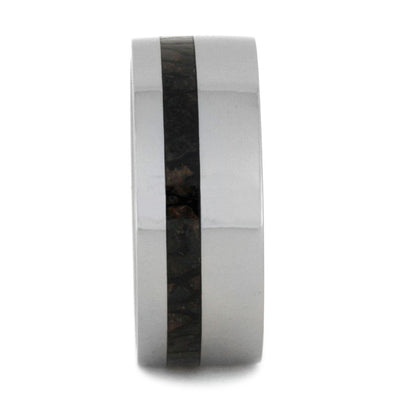 Men's Dinosaur Bone Wedding Band