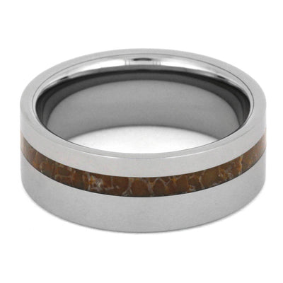 Fossil Ring In Tungsten