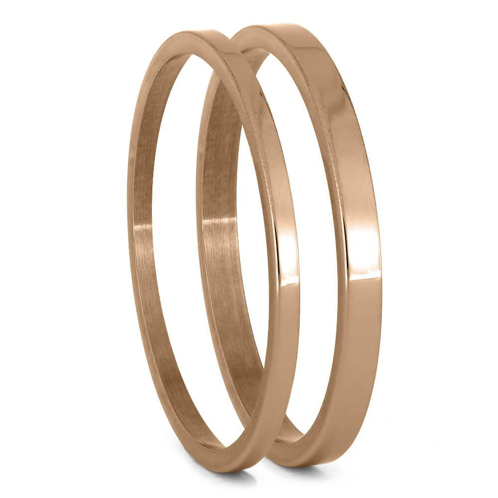 Thin Rose Gold Component for Interchangeable Ring