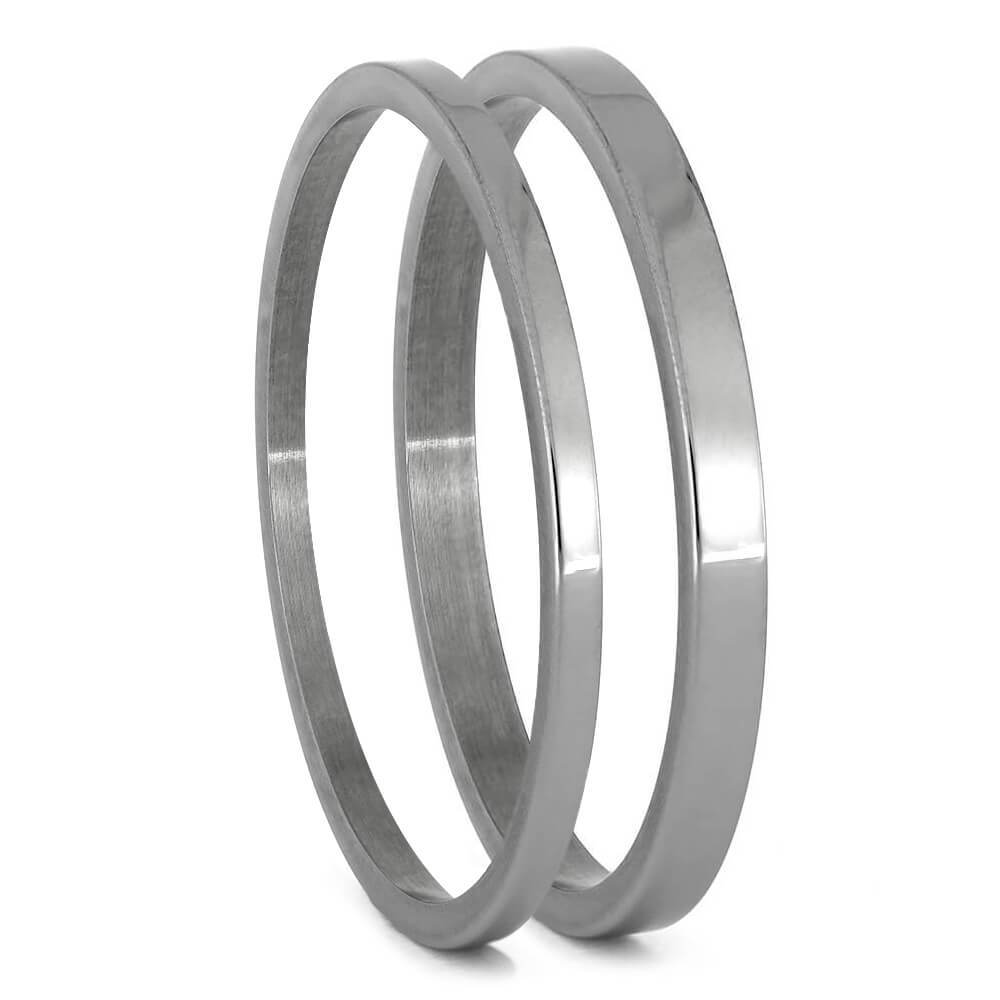Titanium Pinstripe Components For Interchangeable Rings, 1MM or 2MM-INTCOMP-TI - Jewelry by Johan