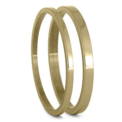 Yellow Gold Pinstripe Components For Interchangeable Rings, 1MM or 2MM-INTCOMP-YG - Jewelry by Johan