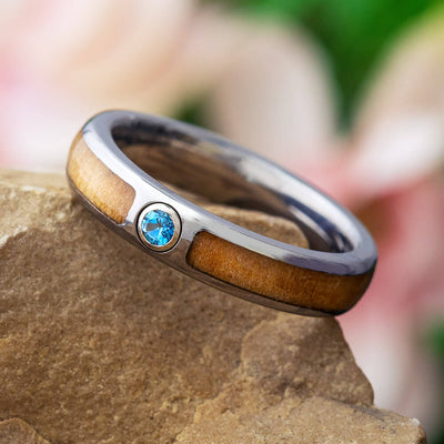 Rowan Wood Wedding Band