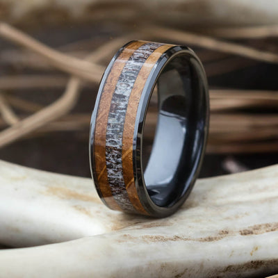Jewelry by Johan Whiskey Barrel Antler Ring