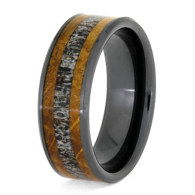 Black Ceramic Men's Ring