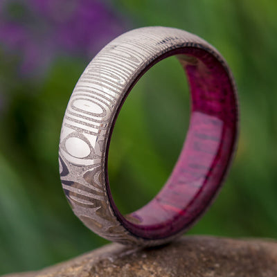 Damascus Wedding Ring