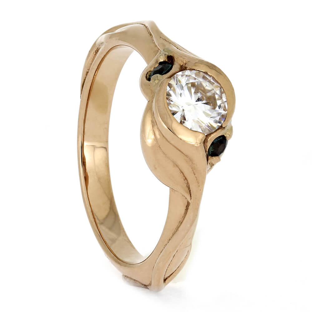 Nature Inspired Rose Gold Engagement Ring, Size 5.5-RS11276 - Jewelry by Johan