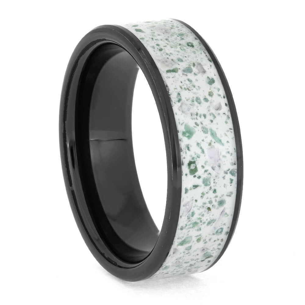 White Enamel Wedding Band