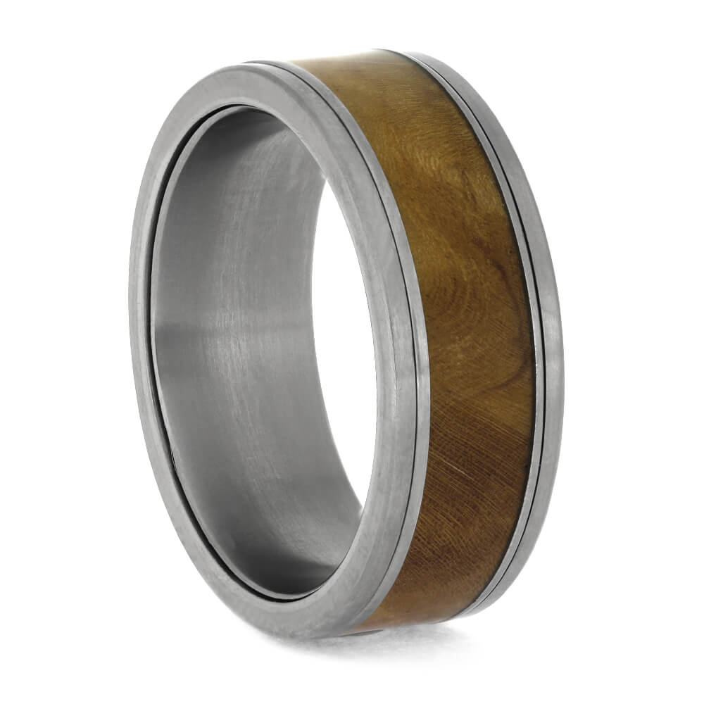 Men's Interchangeable Wedding Band with Sindora Wood, Size 10-RS11353 - Jewelry by Johan