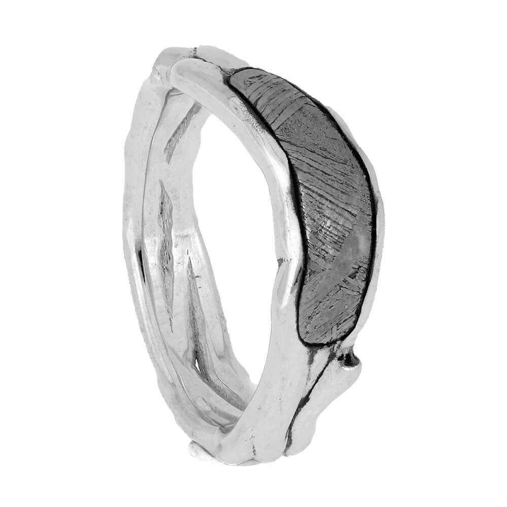 Branch Wedding Band with Meteorite, Size 3.5-RS11354 - Jewelry by Johan