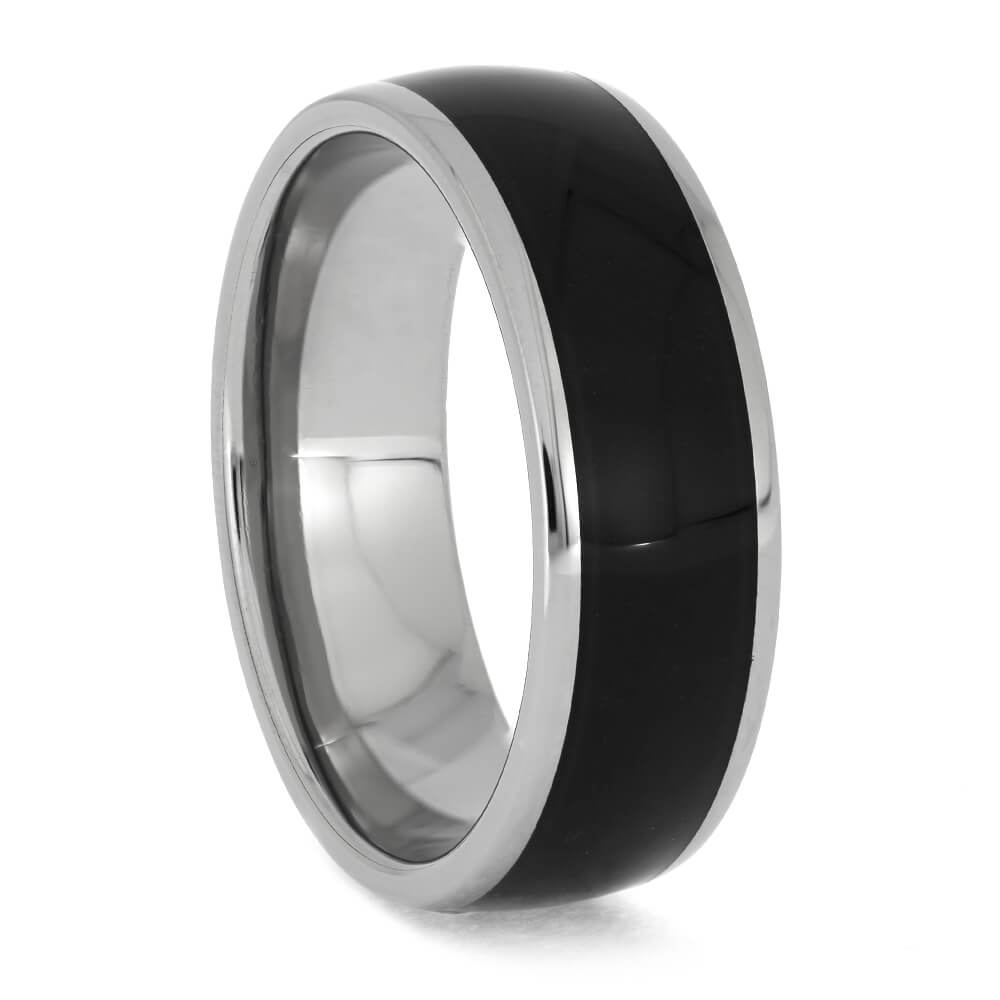 Black Ebony Wood Wedding Band for Men, Size 12.5-RS11371 - Jewelry by Johan
