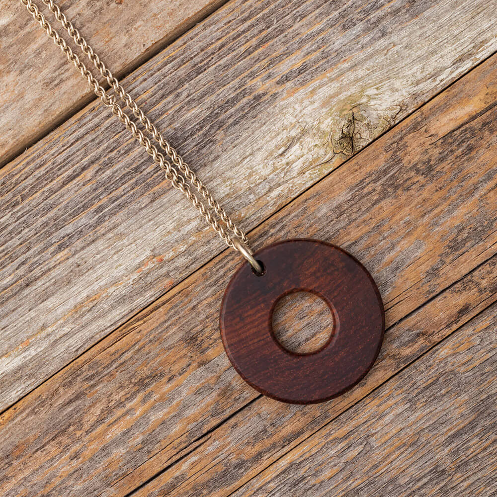 Unique Wood Pendant made with Honduran Rosewood-RS9738 - Jewelry by Johan
