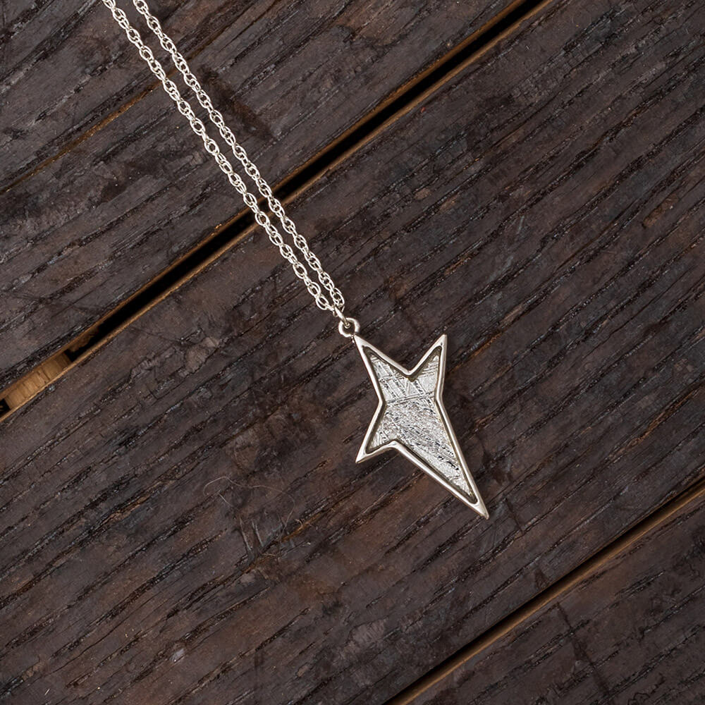 "18"" Starburst Meteorite Necklace, In Stock-RSSB248 - Jewelry by Johan"