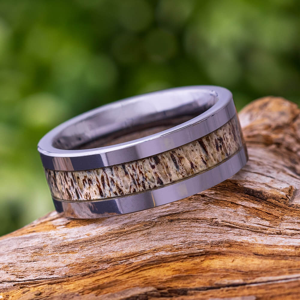 Tungsten Antler Men's Wedding Band, In Stock-SIG3016 - Jewelry by Johan