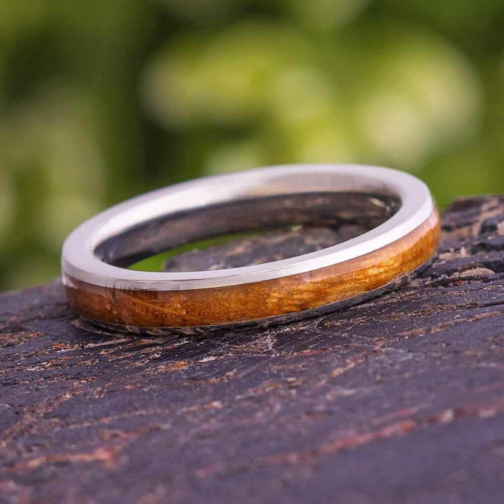 Whiskey Barrel Oak Men's Wedding Band, In Stock-SIG3023 - Jewelry by Johan