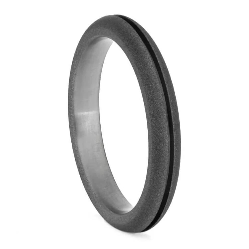 Titanium Wedding Band with Sandblasted Finish-1390 - Jewelry by Johan