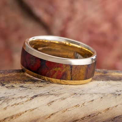 Jasper Ring with Yellow Gold