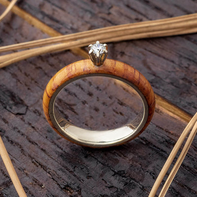 Honduran Rosewood Engagement Ring