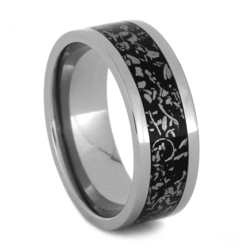 Titanium Black Stardust™ Men's Wedding Band-2092 - Jewelry by Johan