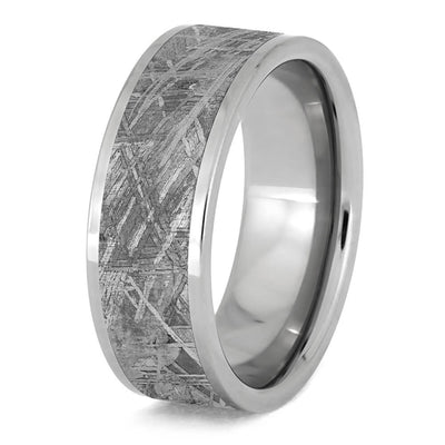 Men's Tungsten Wedding Band with Gibeon Meteorite-2179 - Jewelry by Johan