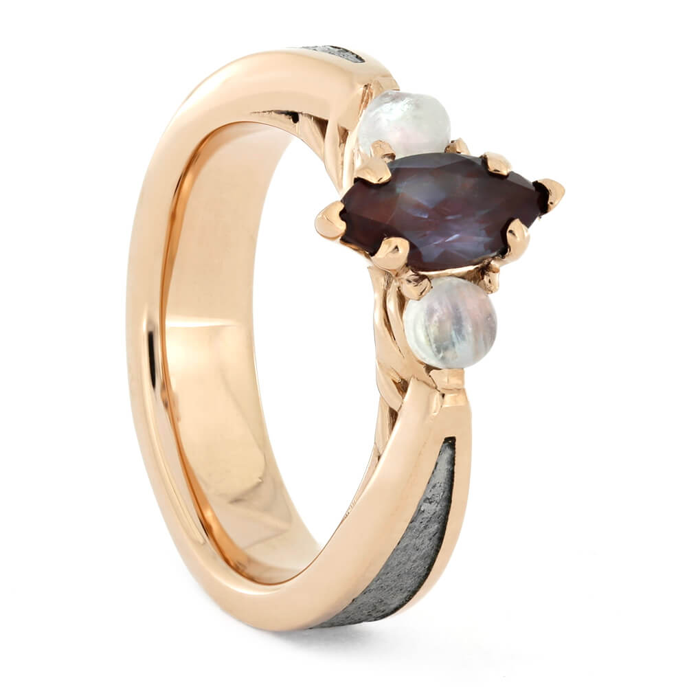 Moonstone Engagement Ring With Alexandrite
