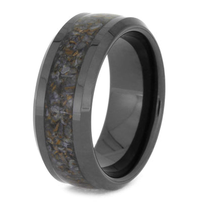 Crushed Dinosaur Bone Ring For Men