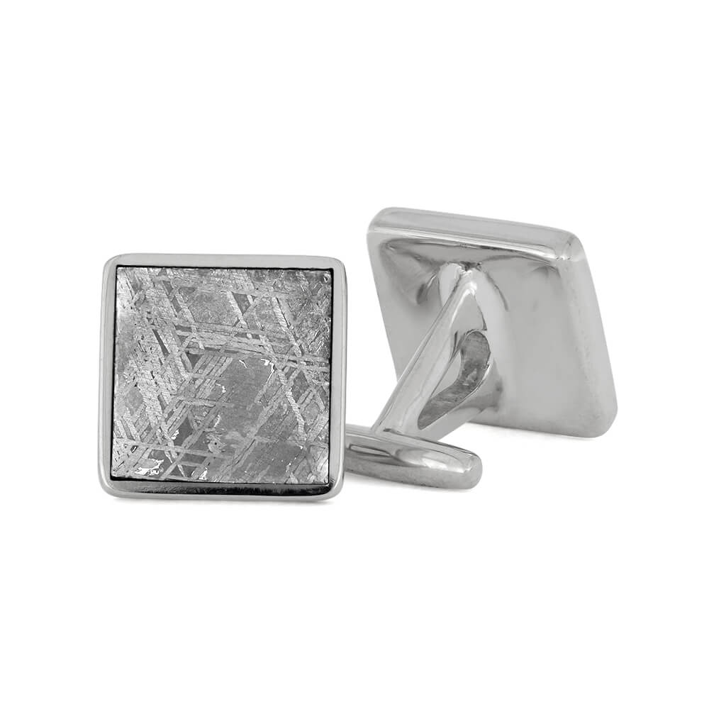 Square Authentic Meteorite Cuff Links, Made to Order-3189 - Jewelry by Johan