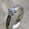 Rough Diamond Engagement Ring with Genuine Dinosaur Bone Inlay-3236 - Jewelry by Johan