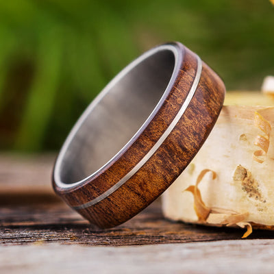 Koa Wood Wedding Band