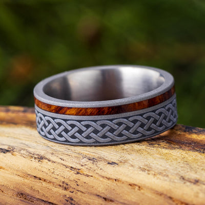 Olive Wood Celtic Ring