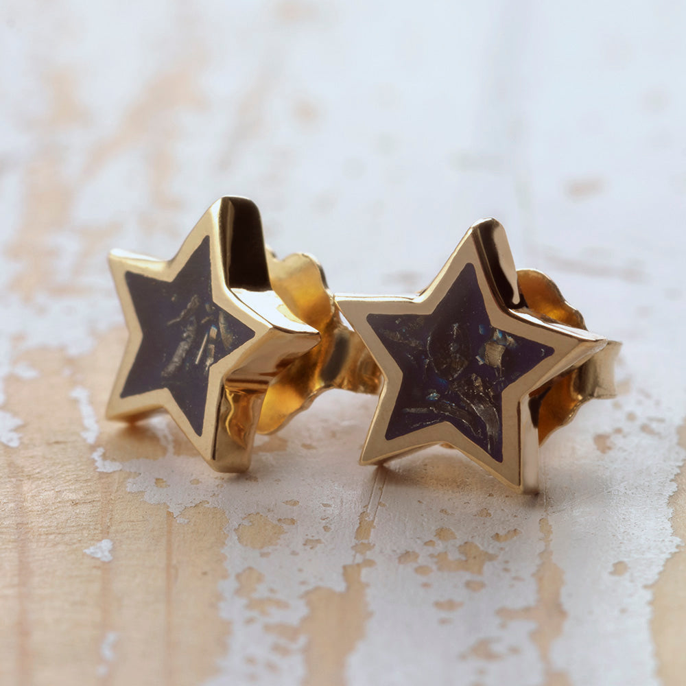 Stardust™ Stud Earrings In Yellow Gold-3522YG - Jewelry by Johan