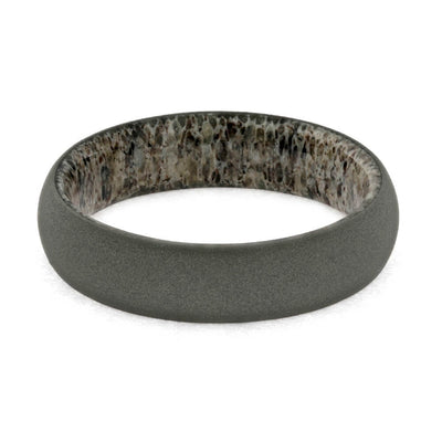 Deer Antler Ring In Titanium